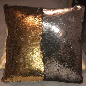 Silver and Gold Sequin Pillow